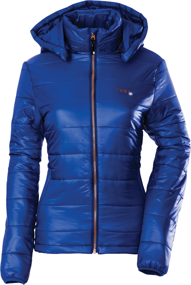 HOODED PUFFER JACKET 2X NAVY BLUE