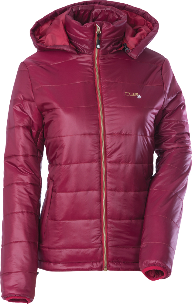 HOODED PUFFER JACKET MD GARNET RED