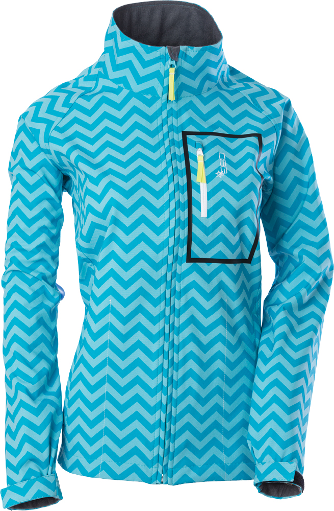 SOFTSHELL JACKET 2X CHEVRON/AQUA BLUE