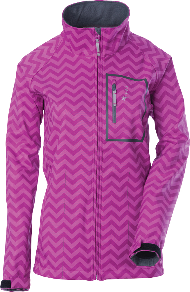 SOFTSHELL JACKET 2X CHEVRON/ORCHID