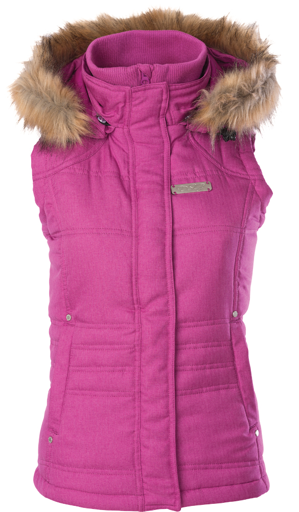 HOODED VEST BERRY 2X