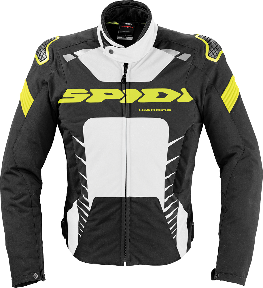 WARRIOR TEX JACKET BLACK/WHITE/FLO. YELLOW 2X