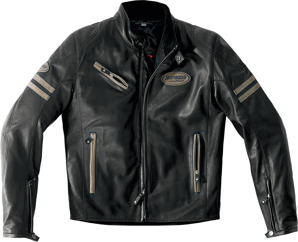 ACE LEATHER JACKET BLACK/BROWN E50/US40