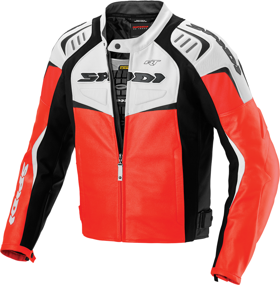 R/T LEATHER JACKET WHITE/RED E48/US38