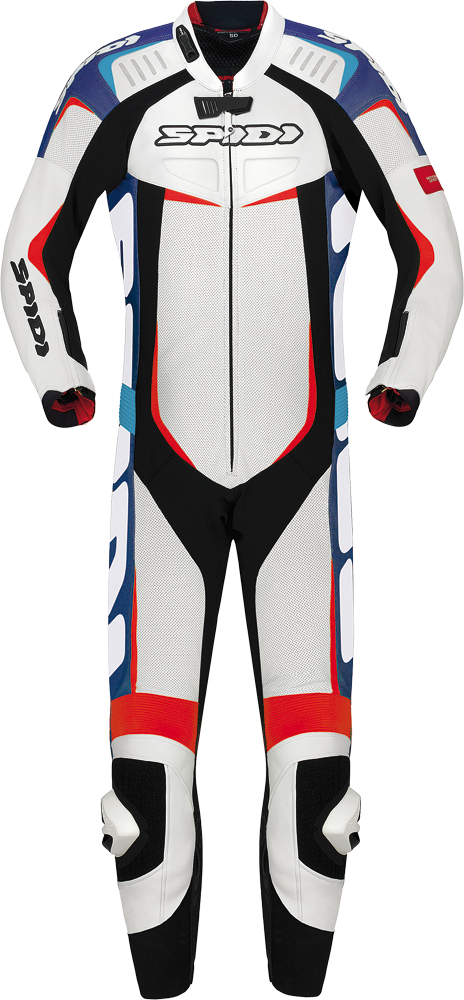 TRACK LEATHER WIND PRO SUIT BLUE/RED E52/US42