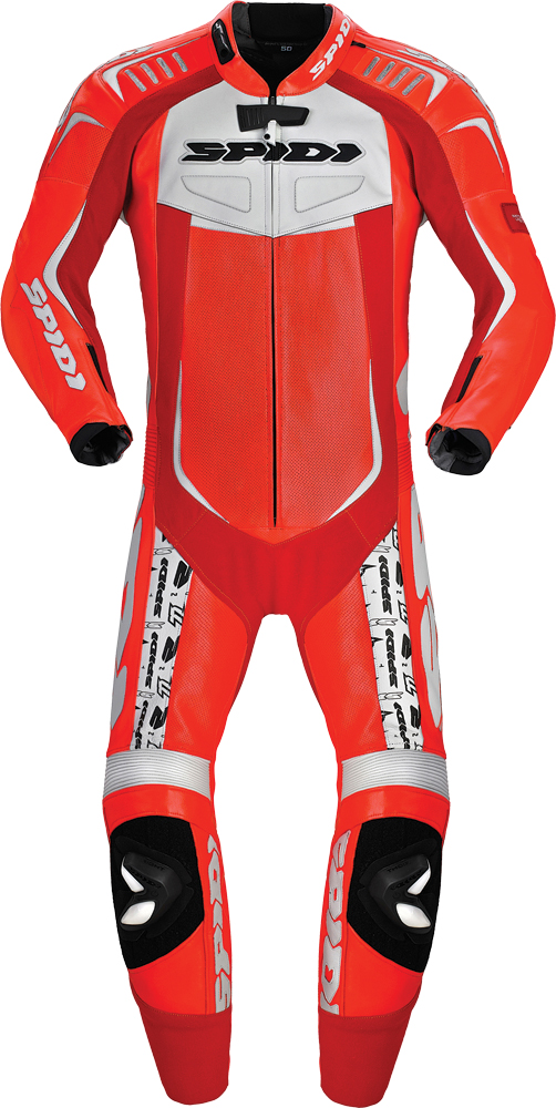 TRACK WIND REPLICA LEATHER SUIT RED/WHITE E50/US40