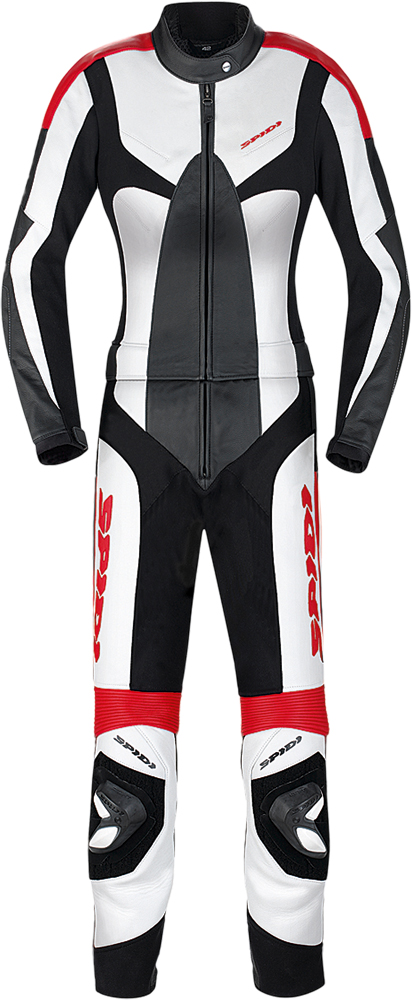 POISON LEATHER TOURING LADIES SUIT BLACK/WHITE E50/US48
