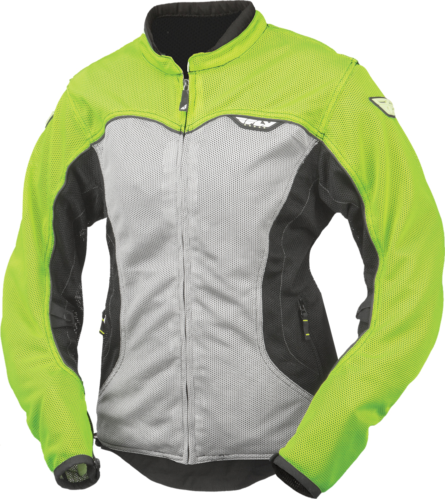 FLUX AIR LADIES JACKET HI-VIS/SILVER 2X