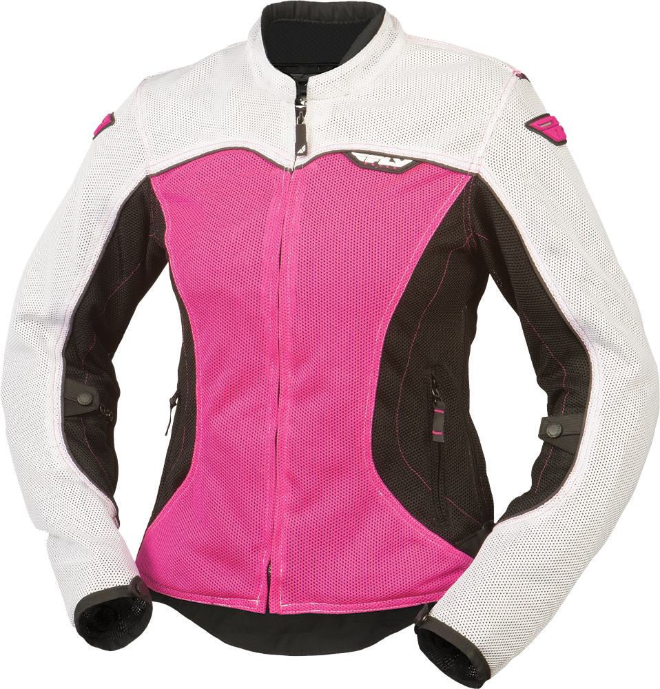 FLUX AIR LADIES JACKET WHITE/PINK 2X