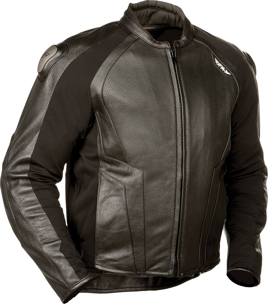 APEX LEATHER JACKET BLACK SZ 38