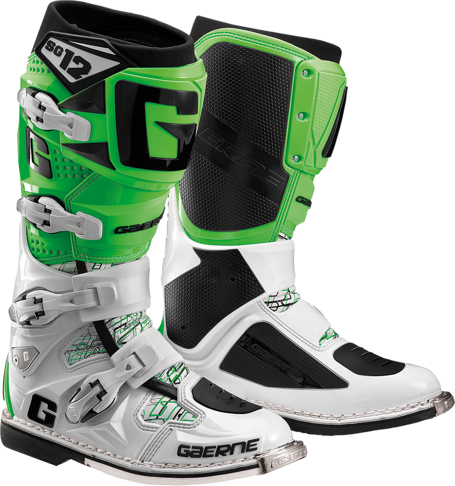 SG-12 BOOTS WHITE/GREEN SZ 12