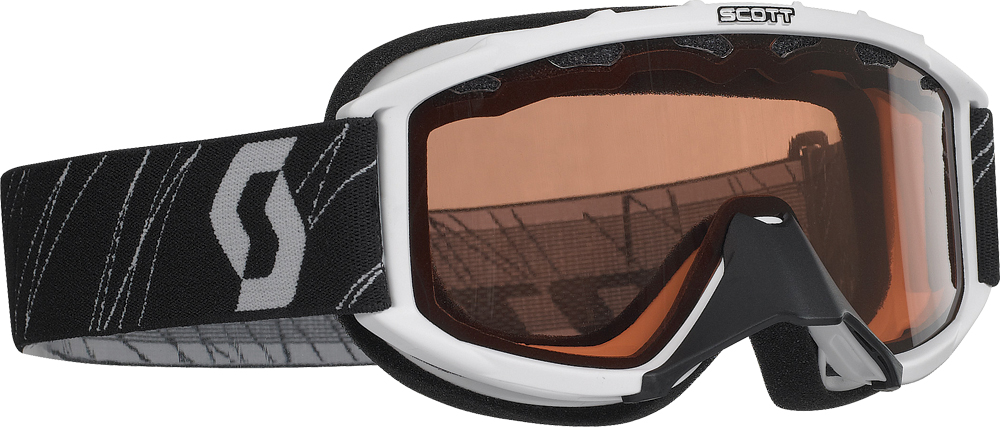 89 SI SNOCROSS YOUTH GOGGLE WHITE W/ACS ROSE LENS
