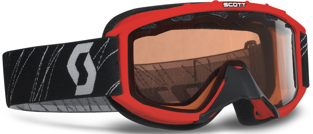 89SI YOUTH SNOCROSS GOGGLE RED W/ACS RED LENS