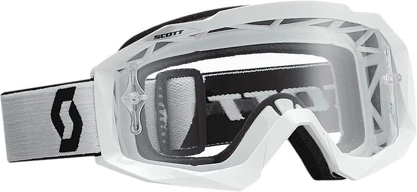 HUSTLE GOGGLE WHITE W/CLEAR LENS
