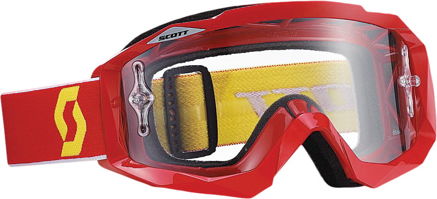HUSTLE GOGGLE RED W/CLEAR LENS
