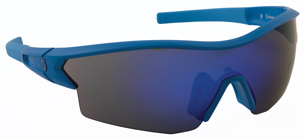 LEAP SUNGLASSES MATTE BLUE W/BLUE ION LENS