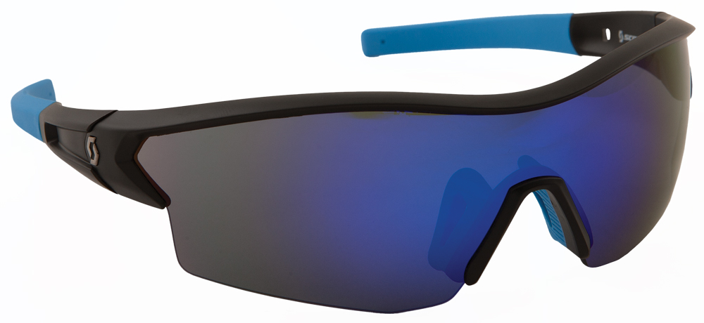 LEAP SUNGLASSES MATTE BLACK W/BLUE ION LENS