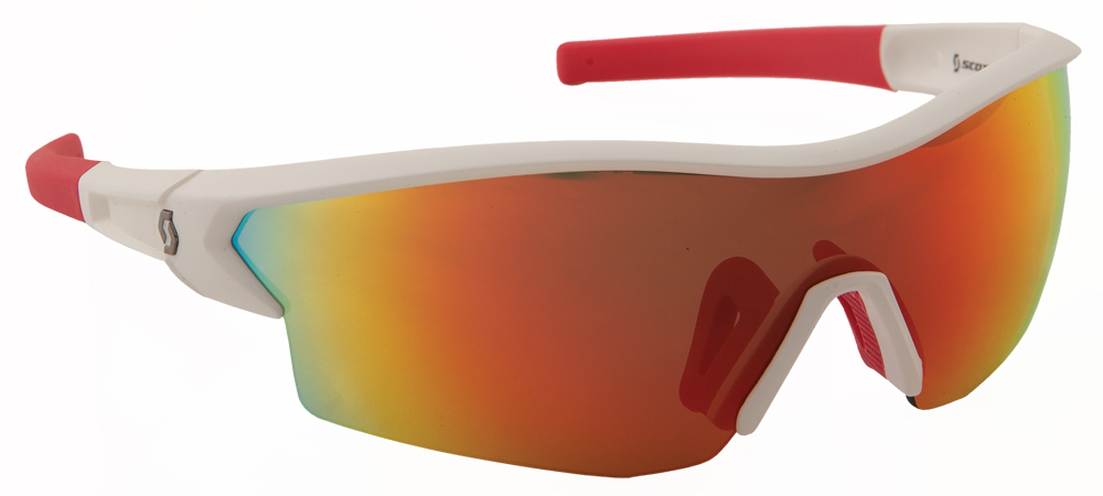 LEAP SUNGLASSES WHITE/RED W/RED ION LENS
