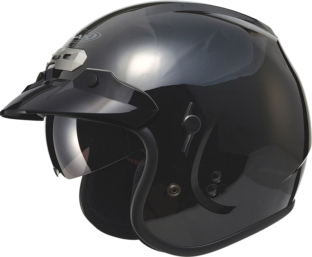 GM32 O/F HELMET W/SUN SHIELD BLACK 2X