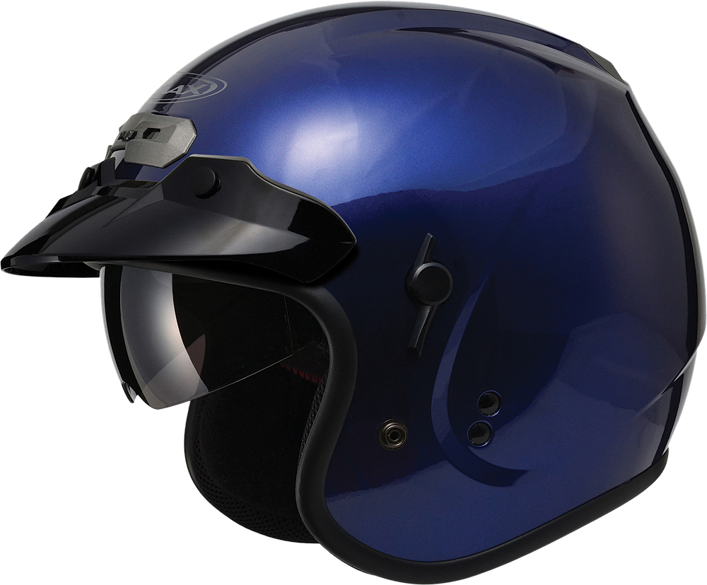 GM32 O/F HELMET W/SUN SHIELD BLUE 2X