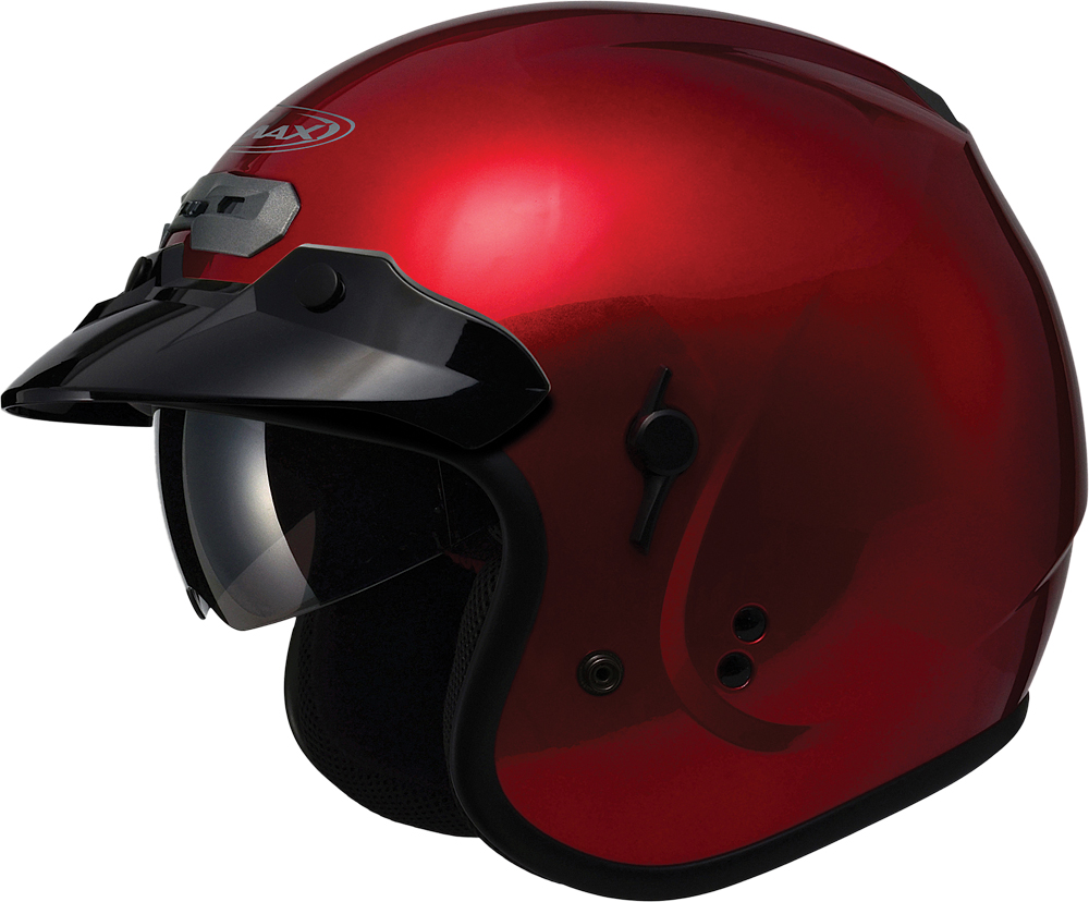 GM32 O/F HELMET W/SUN SHIELD CANDY RED 2X