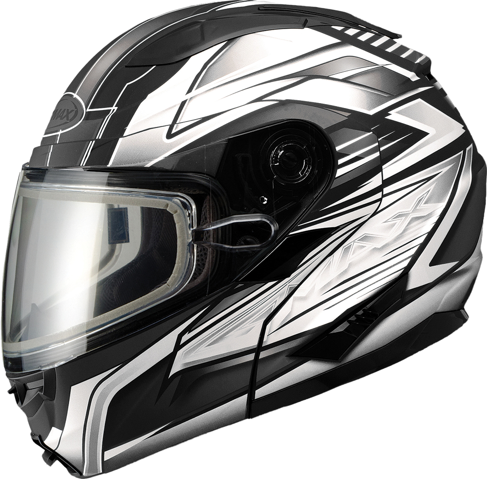 GM64S MODULAR HELMET CARBIDE MATTE BLACK/WHITE X