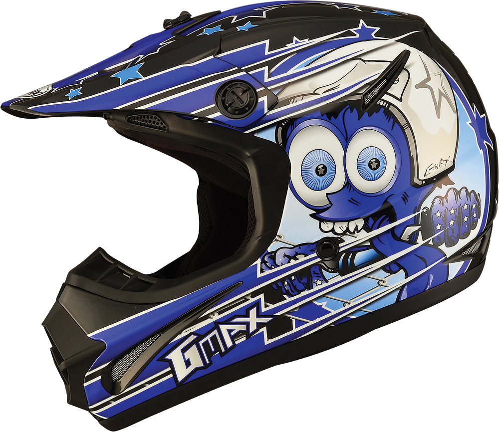 GM46.2 SUPERSTAR HELMET BLACK/BLUE YL