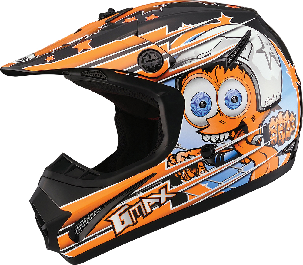 GM46.2 SUPERSTAR HELMET BLACK/ORANGE YL