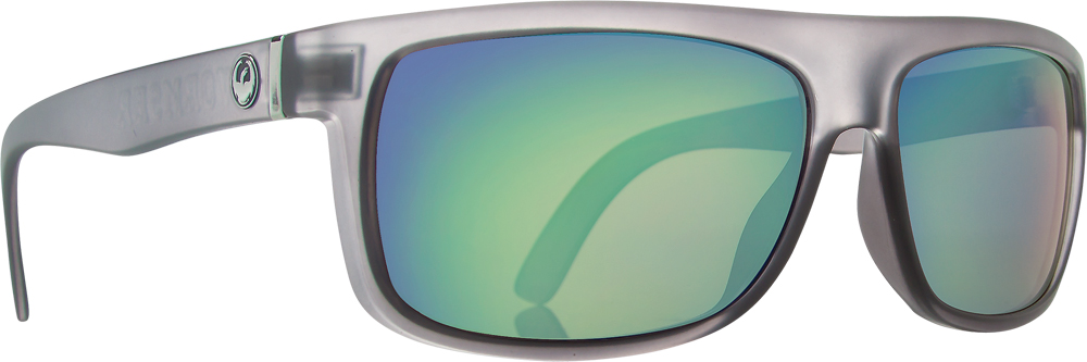 WORMSER SUNGLASSES MATTE GREY W/GREEN ION LENS