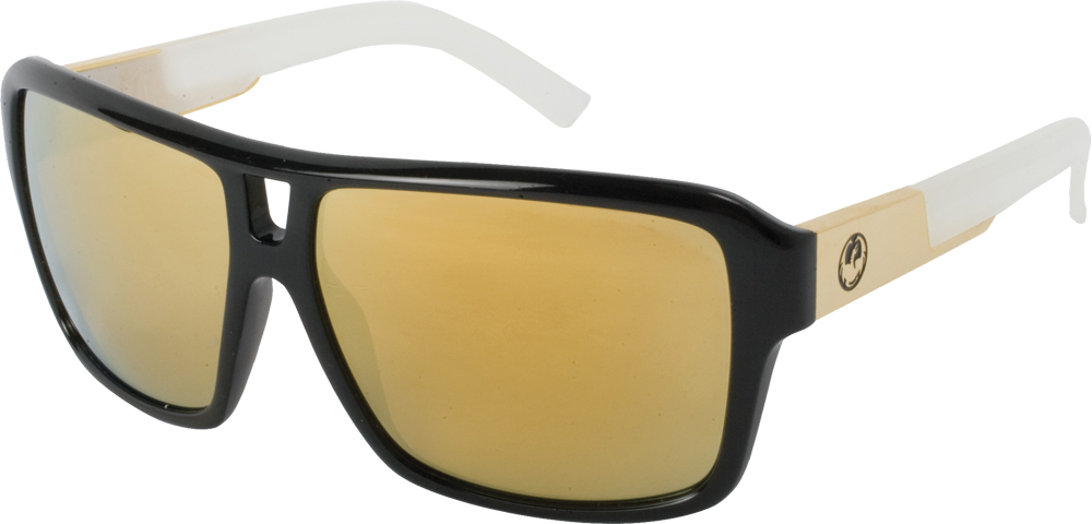 THE JAM SUNGLASSES JET WHITE W/GOLD ION LENS