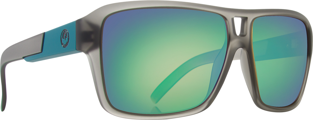 THE JAM SUNGLASSES MATTE GREY W/GREEN ION LENS