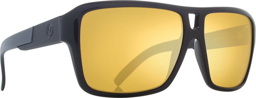 THE JAM SUNGLASSES BLACK GOLD W/GOLD ION LENS