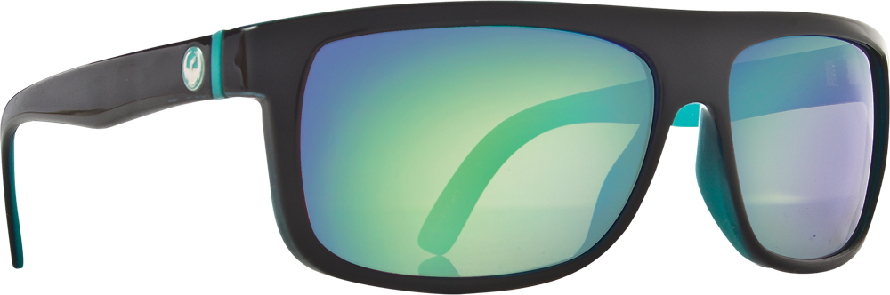 WORMSER SUNGLASSES TEAL W/GREEN ION. LENS