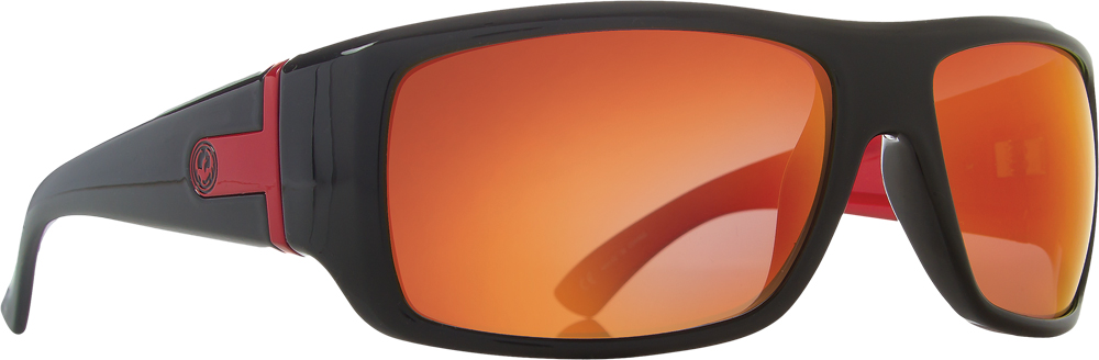 VANTAGE SUNGLASSES JET RED W/PERF. POLAR LENS
