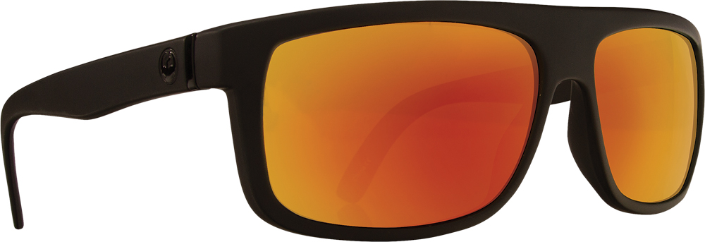 WORMSER SUNGLASSES MATTE BLACK W/RED ION LENS