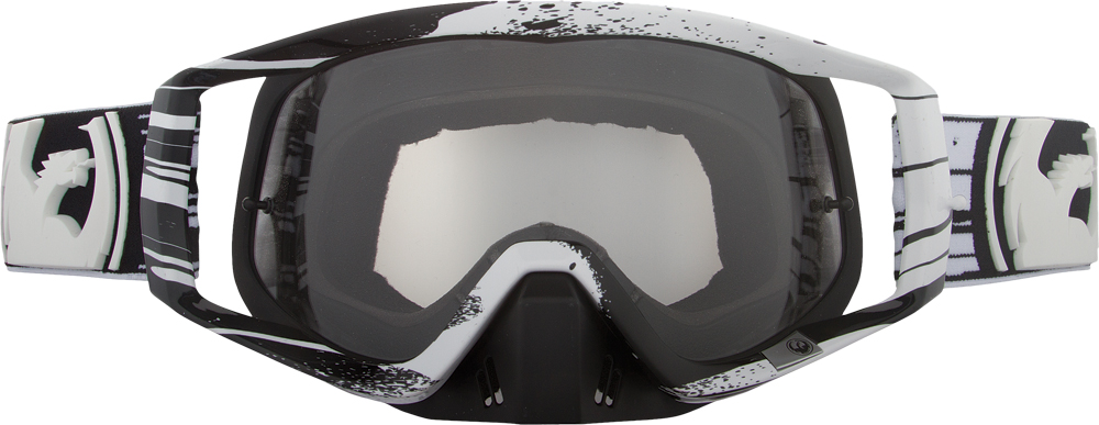 VENDETTA GOGGLE PAINTDRIP BLACK/WHITE W/CLEAR AFT LENS