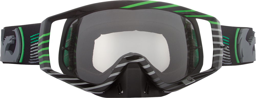 VENDETTA GOGGLE LINEAR GREEN W/CLEAR AFT LENS