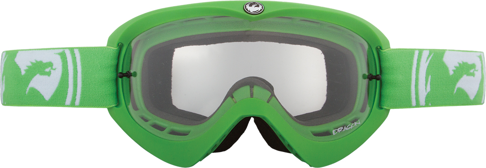 MDX GOGGLE GREEN W/CLEAR LENS