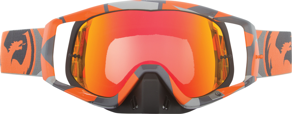 VENDETTA GOGGLE FLAIR ORANGE W/RED ION LENS