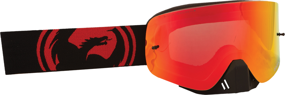 NFX GOGGLE JET RED SPLIT W/RED ION LENS