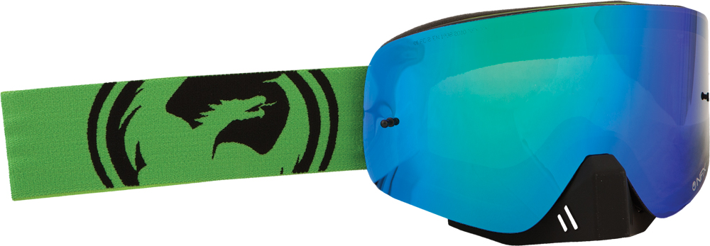 NFX GOGGLE GREEN BLACK SPLIT W/GREEN ION LENS