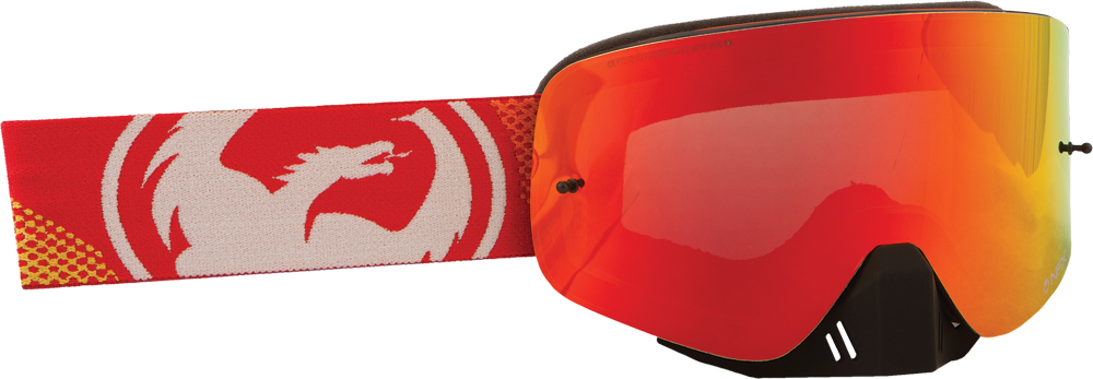 NFX GOGGLE FADE ORANGE W/RED ION LENS