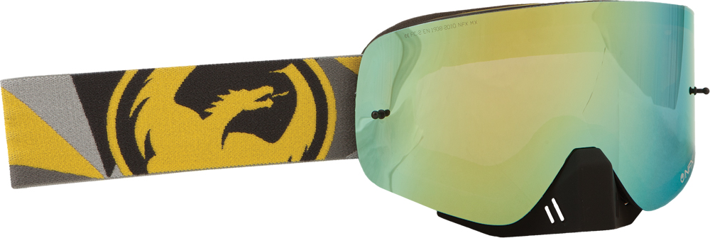 NFX GOGGLE FLAIR YELLOW GREY W/GOLD ION LENS