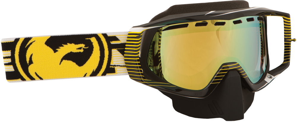 VENDETTA GOGGLE NERVE YELLOW W/GOLD ION. LENS