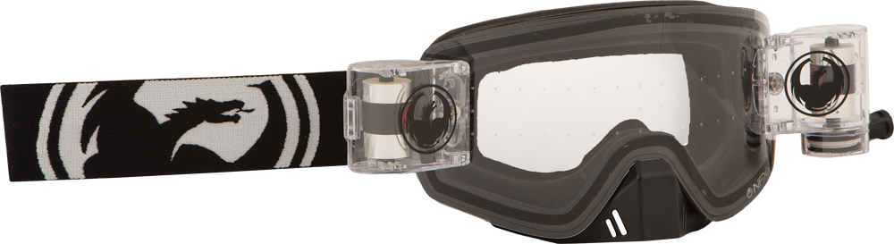 NFXS GOGGLE BLACK W/CLEAR RAPID ROLL LENS