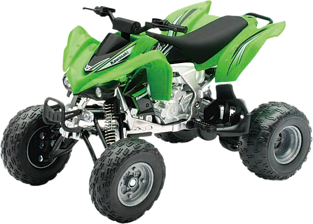 DIE-CAST REPLICA KFX450R ATV GREEN 1:12