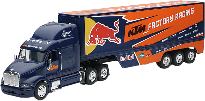 DIE-CAST REPLICA RED BULL KTM RACE TRUCK 1:32