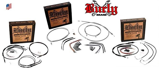 Burly brand Extended cable kit for Harely Davidson 00-06 FLST/C/F/N
