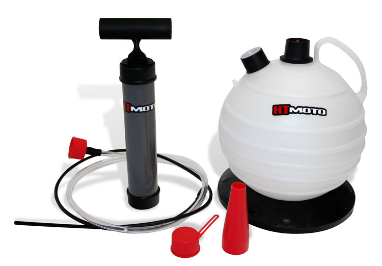 Hydro turf Oil Extractor used for changing oil