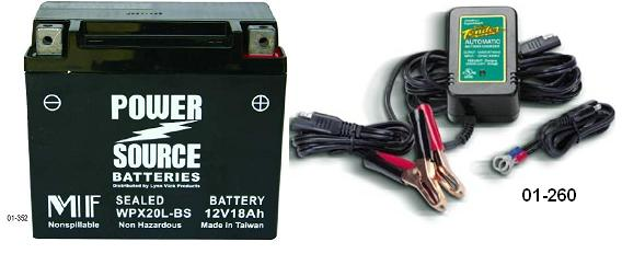 Powersource Battery & Battery Tender Junior